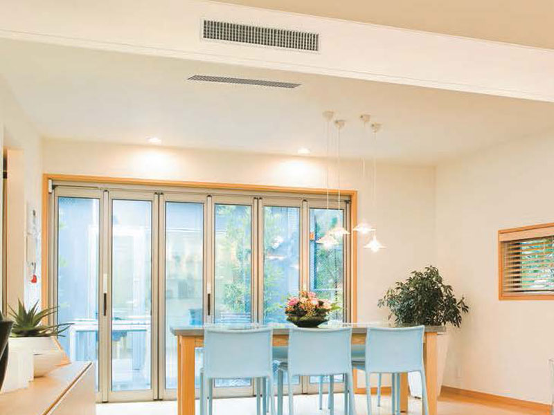 ducted heat pump grille in lovely home